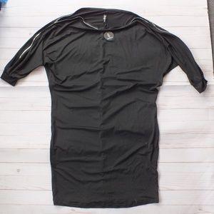 NEW Rosianna Zipper Top Black Dress Size XL